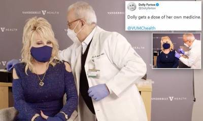 Dolly Parton, 75, receives Moderna COVID-19 vaccine after pledging $1M to help fund trials